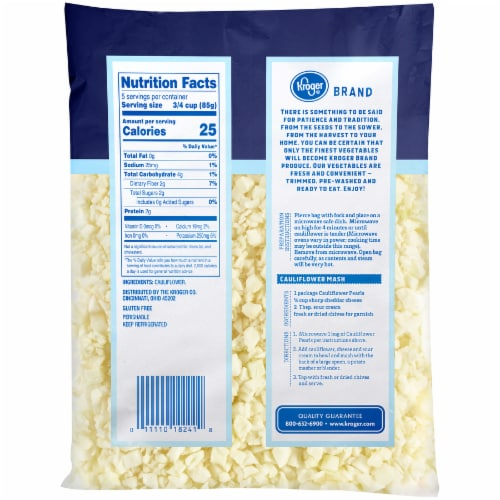 Kroger® Riced Cauliflower Perspective: back