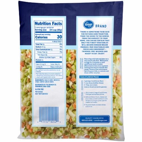 Kroger® Riced Cauliflower Veggie Medley Perspective: back