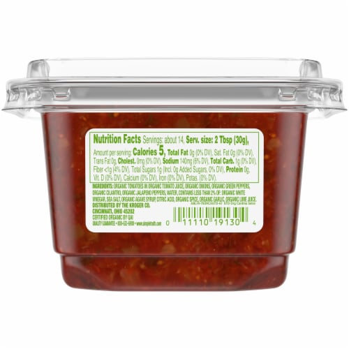Simple Truth™ Medium Cantina Style Salsa Perspective: back