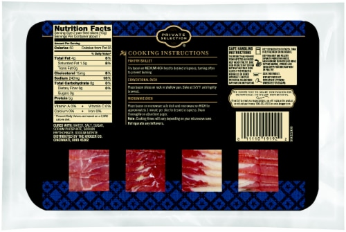 Private Selection® Center Cut Double Smoked Bacon Perspective: back