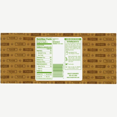 Simple Truth® Natural Angus Beef Top Sirloin Perspective: back