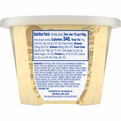 Kroger® Deviled Egg Potato Salad Perspective: back