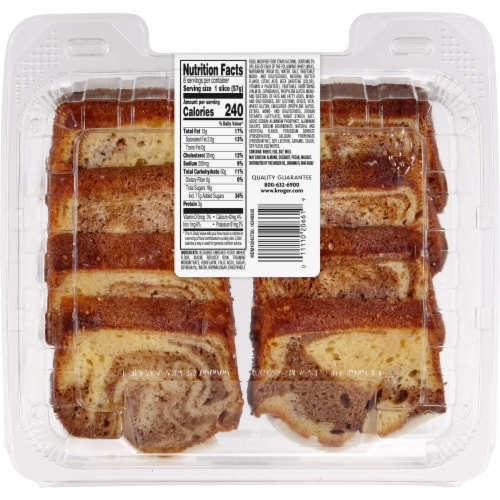 Bakery Fresh Goodness Sliced Cinnamon Loaf Cake Perspective: back