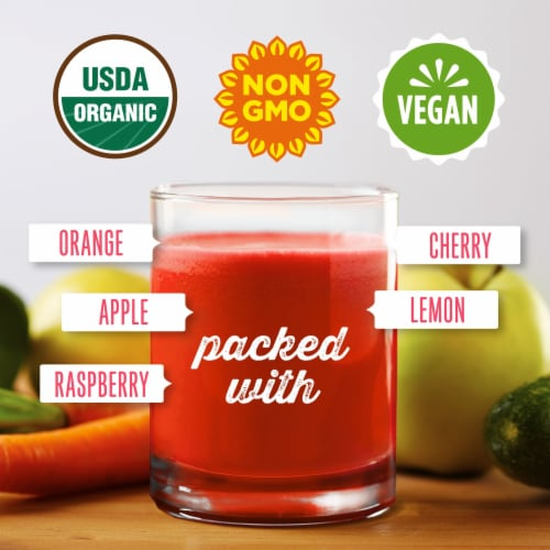 Simple Truth Organic® Cold Pressed Citrus Raspberry Juice Blend Perspective: back