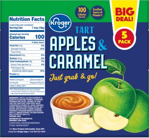 Kroger® Tart Apples & Caramel Snack Tray Pack Perspective: back
