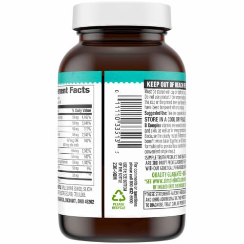 Simple Truth® B Complex Capsules 50mg Perspective: back