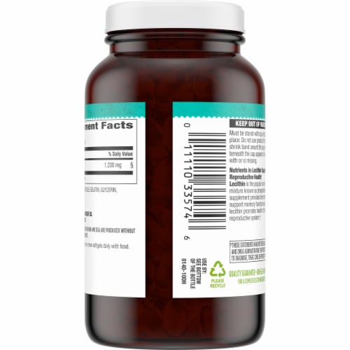 Simple Truth® Lecithin Softgels 1200mg Perspective: back