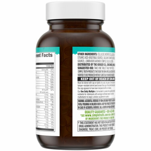 Simple Truth® Easy-To-Swallow One Daily Multiple Vitamin Tablets Perspective: back