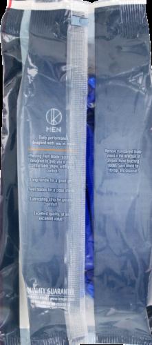 Kroger®  Pivoting Twin Blade Plus Disposable Razors for Men Perspective: back