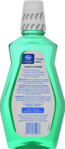 Kroger® Classic Mint Mouth Rinse Perspective: back