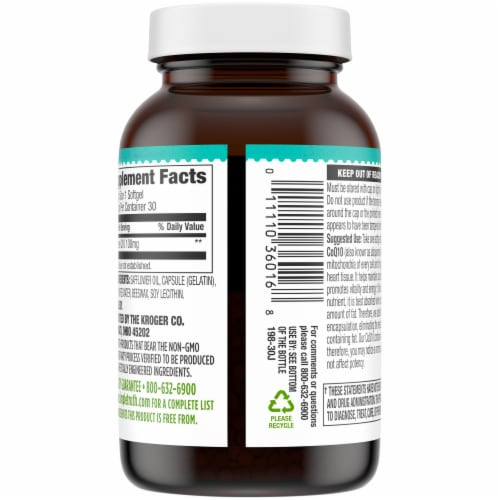Simple Truth® CoQ10 Softgels 100mg Perspective: back
