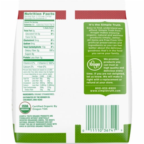 Simple Truth Organic® Frozen Whole Strawberries Perspective: back