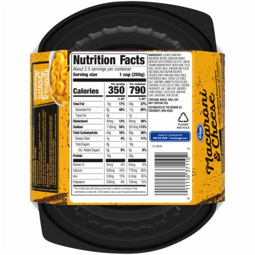 Kroger® Macaroni & Cheese Perspective: back