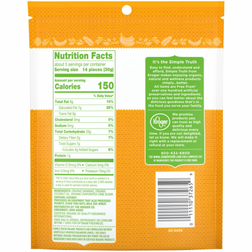 Simple Truth® Organic Banana Chips Perspective: back
