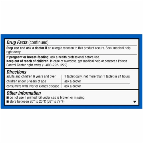 Kroger® Non-Drowsy Allergy Relief Loratadine Tablets Perspective: back