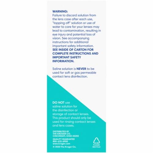 Kroger® Sensitive Eyes Gentle & pH Balanced Sterile Saline Solution Perspective: back