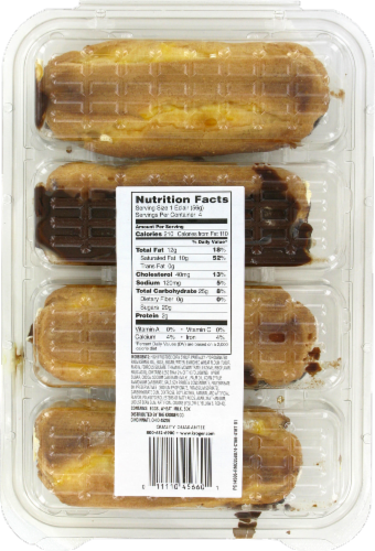 Bakery Fresh Goodness New York Style Chocolate Iced Eclairs Perspective: back