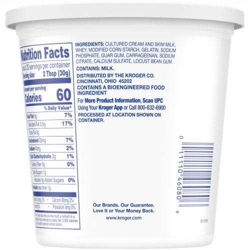 Kroger® Original Sour Cream Perspective: back
