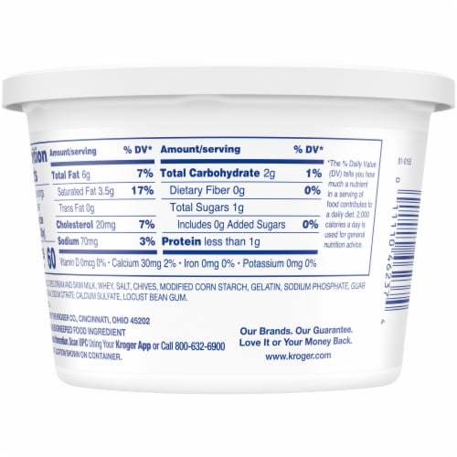 Kroger® Sour Cream with Chives Perspective: back