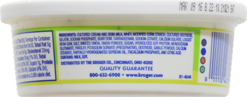 Kroger®  French Onion Sour Cream Dip Perspective: back