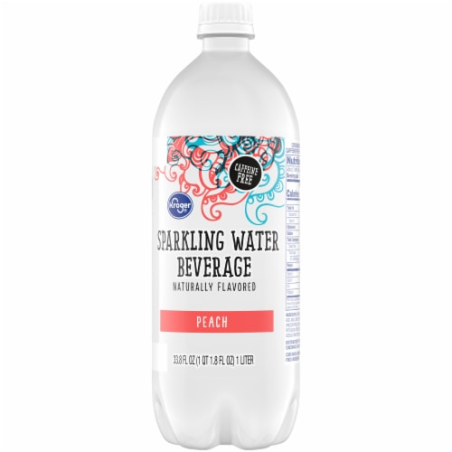 Kroger® Peach Sparkling Water Perspective: back
