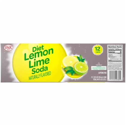 Big K® Diet Lemon Lime Soda Perspective: back