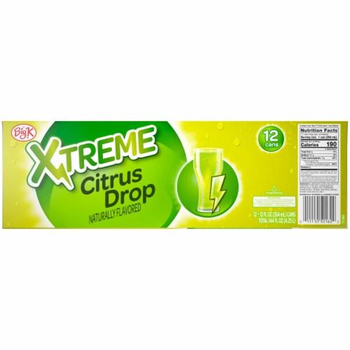 Big K® Xtreme Citrus Drop Soda Perspective: back