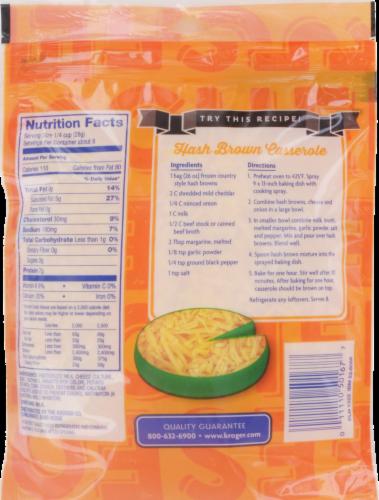 Kroger® Finely Shredded Mild Cheddar Cheese Perspective: back