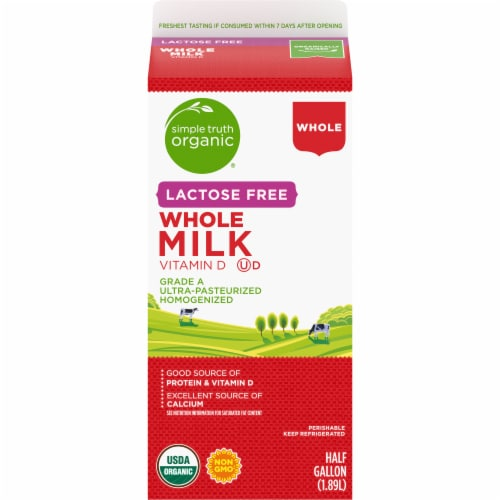Simple Truth Organic® Lactose Free Whole Milk Perspective: back