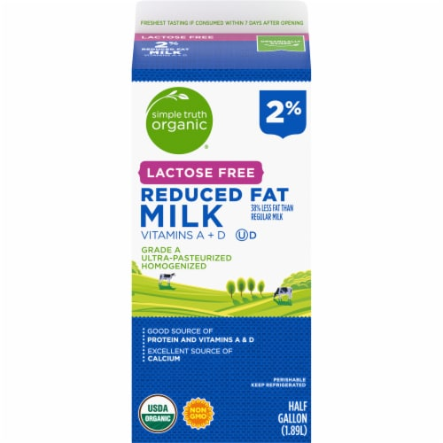 Simple Truth Organic® Lactose Free 2% Reduced Fat Milk Perspective: back