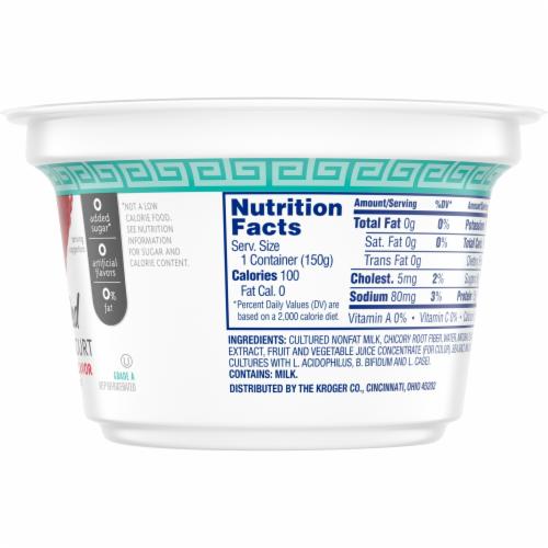 Kroger® Blended Strawberry Flavor Nonfat Greek Yogurt Perspective: back