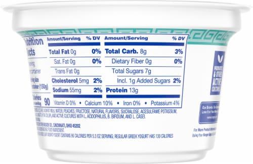 Kroger® Peach Light Nonfat Greek Yogurt Perspective: back