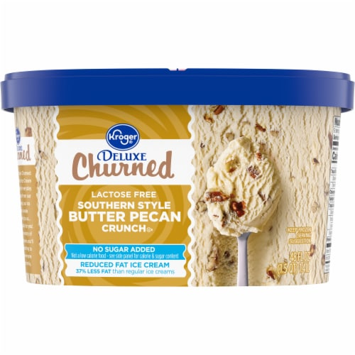 Kroger® Deluxe Churned Lactose Free Southern Crunch Butter Pecan Ice Cream Perspective: back