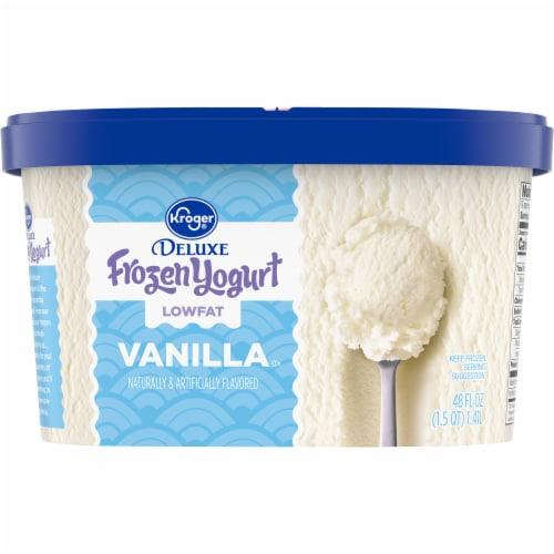 Kroger® Deluxe Lowfat Vanilla Frozen Yogurt Perspective: back