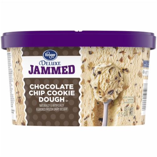 Kroger® Deluxe Jammed Chocolate Chip Cookie Dough Ice Cream Perspective: back