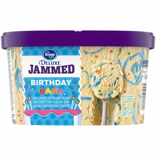 Kroger® Deluxe Jammed Birthday Bash Ice Cream Perspective: back