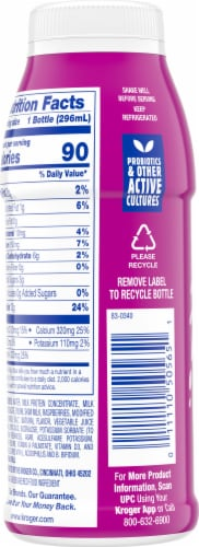 Kroger® CarbMaster® Raspberry Protein Smoothie Perspective: back