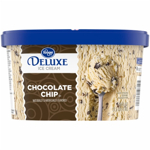 Kroger® Deluxe Chocolate Chip Ice Cream Perspective: back
