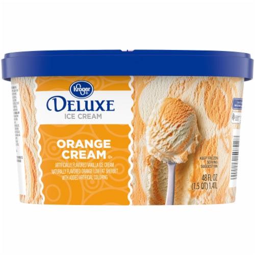 Kroger® Deluxe Orange Cream Ice Cream Perspective: back