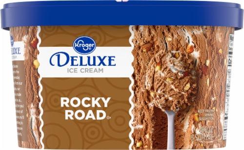 Kroger® Deluxe Rocky Road Ice Cream Perspective: back