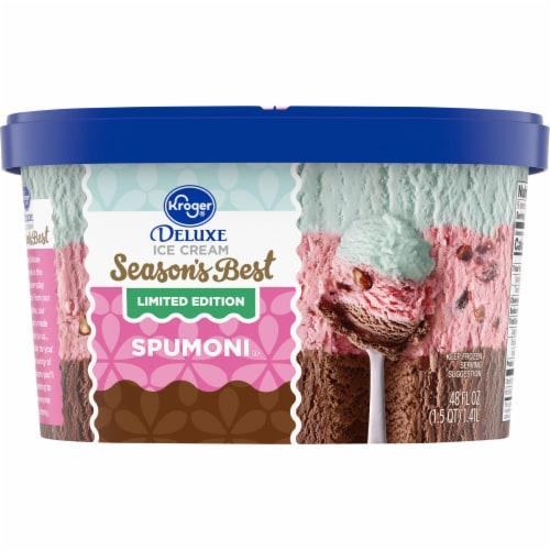 Kroger® Deluxe Spumoni Ice Cream Perspective: back