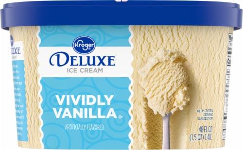Kroger® Deluxe Vividly Vanilla Ice Cream Perspective: back