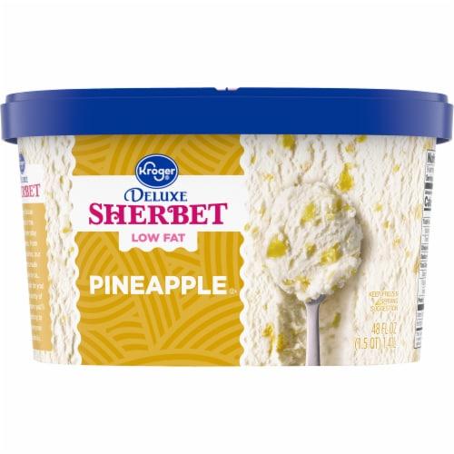 Kroger® Deluxe Low Fat Pineapple Sherbet Perspective: back