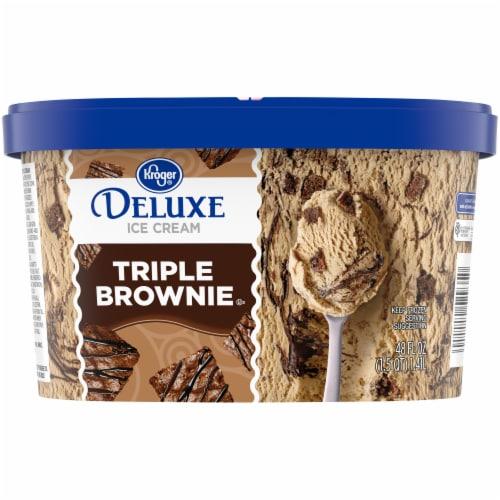 Kroger® Deluxe Triple Brownie Ice Cream Perspective: back