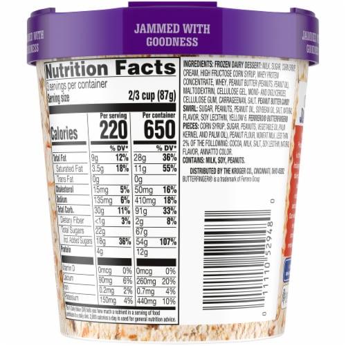 Kroger® Deluxe Jammed Butterfinger Peanut Butter Candy Crunch Frozen Dairy Dessert Perspective: back