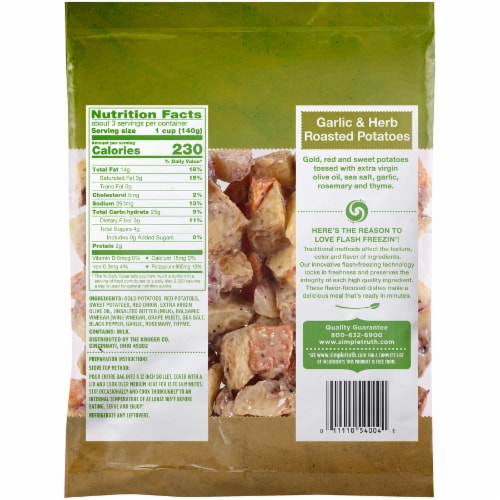 Simple Truth™ Sautes Garlic and Herb Roasted Potatoes Perspective: back