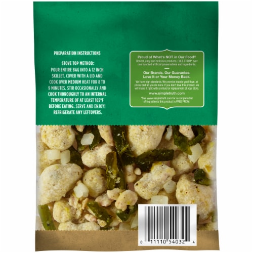 Simple Truth™ Sautes Pork Chile Verde Frozen Meal Perspective: back