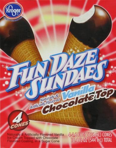 Kroger® Fun Daze Sundaes Vanilla Chocolate Top Perspective: back
