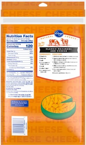 Kroger® Shredded Mild Cheddar Cheese Perspective: back