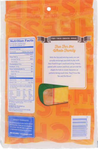 Kroger® Mild Cheddar Snack Cheese Perspective: back